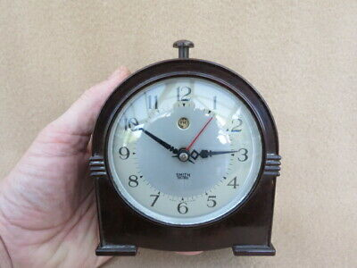 Small Vintage Smiths Sectric Bakelite Alarm Clock For Spares Or Repair