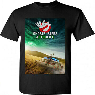 Ghostbusters Afterlife Movie Poster Summer 2020 Black T-shirt Size S M L XL 2XL