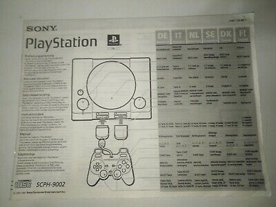 Playstation scph-9002 manuale istruzioni ps 1