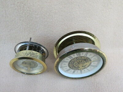 X 2 Small Vintage 30 Hour Insert Clock Movements, Dial, Etc