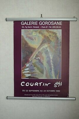 Courtin Affiche Exposition Galerie Gorosane sept/oct 1983 Poster Collector