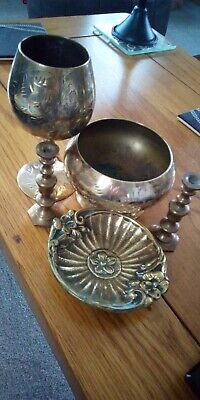 Vintage and Antique Job Lot Brass Items