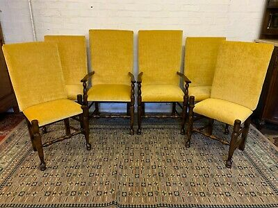 Set Of Six Top Quality Oak Dining Chairs