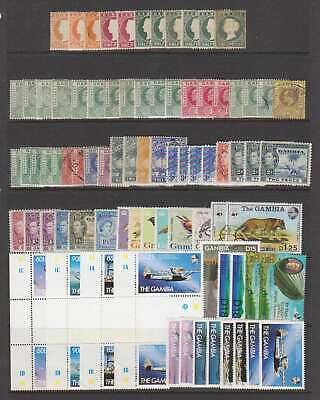 A7376: Better Gambia Stamp Lot; CV $400