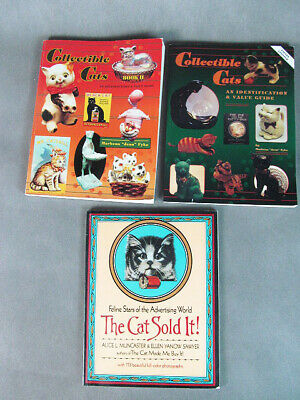 Lot 3 BOOKS on Collectible & Advertising CATS