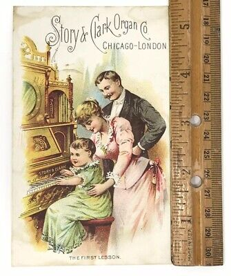 Antique Trade Card – Story & Clark Organ Co., A.m. Ordway, Hagerstown, Md
