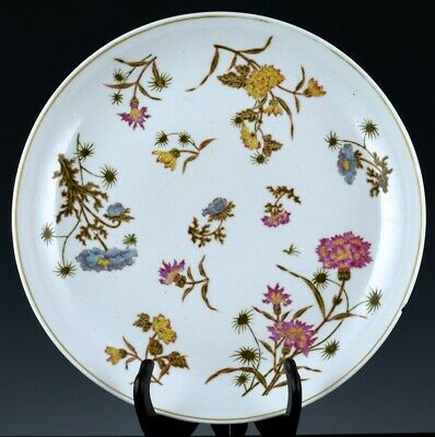 Large Chinese Famille Rose Floral Porcelain Charger Plate Guangxu Marks