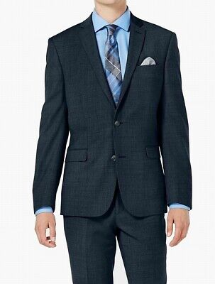 Bar III Mens Blazer Blue Size 36 Short Slim Fit Two Button Wool $425 #114