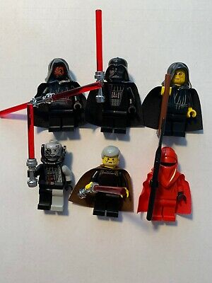 Lego Star Wars Sith Minifigures lot of 6 Emperor Darth Maul Count Dooku Vader