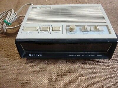 Sanyo Computer Readout Clock Radio-Model Rm5500-In Working Order