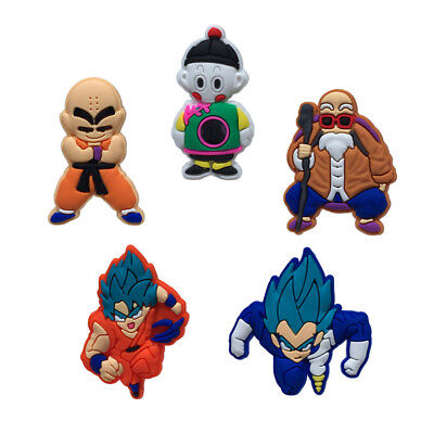 5pcs/lot Dragon Ball PVC Shoe Charms Accessories for holes on Shoes Bracelet Bag