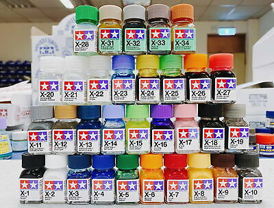Tamiya Color 80001-80034 X-1 to X-34 Gloss Enamel Paint Complete 32 bottles Set