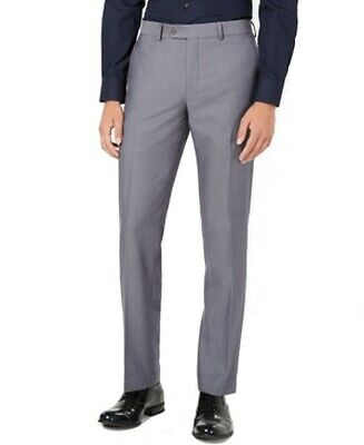 Bar III Mens Pants Gray Size 32X32 Slim Fit Dress - Flat Front Stretch $175 #275