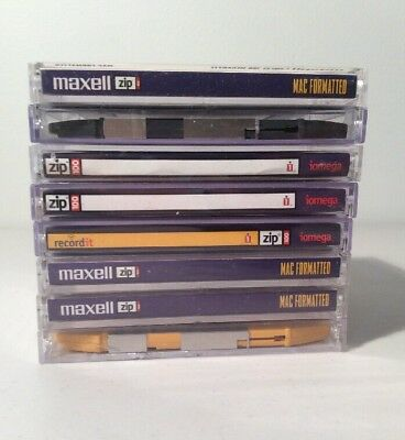 8 iomega & Maxell 100 MB Zip Disk MAC formatted