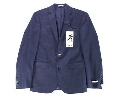 Bar III Mens Blazer Blue Size 36 Short Slim Fit Two Button Wool $165 #117