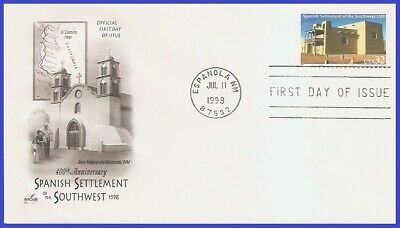 #3220 U/A ARTCRAFT FDC   Spanish Settlement of the South