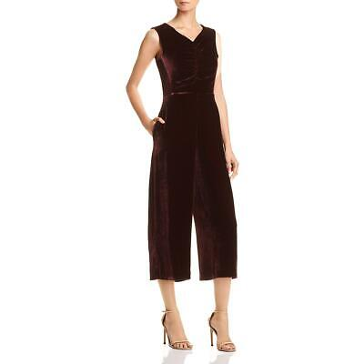 Rebecca Taylor Womens Purple Velvet Ruched Night Out Jumpsuit 6 BHFO 0335