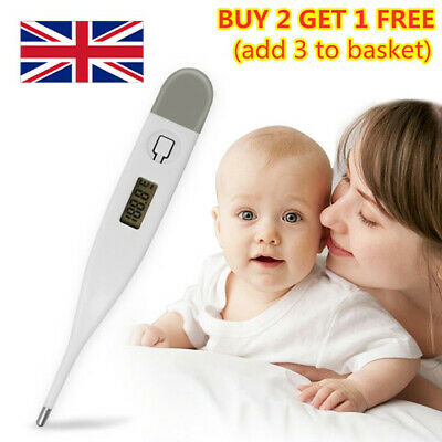 Digital LCD Medical Thermometer Mouth Underarm Baby Body Temperature Aid New-