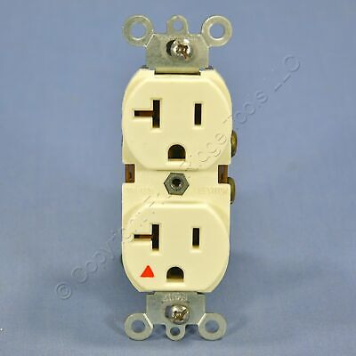 Leviton Almond Isolated Ground Duplex Outlet Receptacle 5-20R 20A Bulk 5362-IG