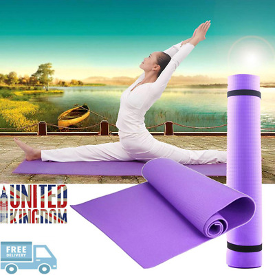 Yoga Mat EXTRA THICK 6mm 173cm x 61cm Non Slip Exercise/Gym/Camping/Picnic FITNE