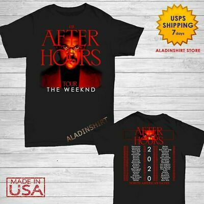 After Hours tour 2020 t Shirt New The Weekend T-Shirt Date Concert S-4XL