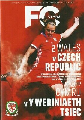 WALES v CZECH REPUBLIC  April 2019  WOMEN