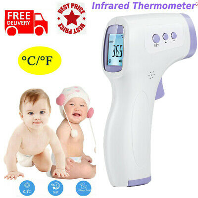 Medical Non-Contact Infrared Thermometer Gun LCD Digital Forehead Fever Adult Gh