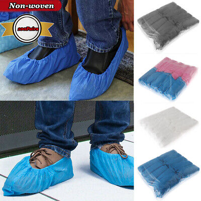 100Pairs Unisex Disposable Shoe Covers Dustproof Non-slip Waterproof Foot Cover