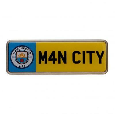 Manchester City F.C. Number Plate Pin Badge With Club Crest ( a60pinmacnu ) SC