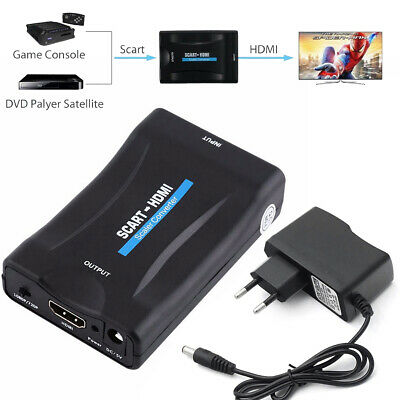 1080P SCART to HDMI HDTV Audio Video Converter Adapter for DVD SKY TV DVB PS3 PC