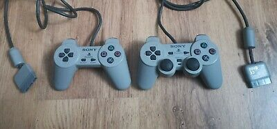 Playstation One PS1 Official Sony Controllers Grey X 2 unable to test