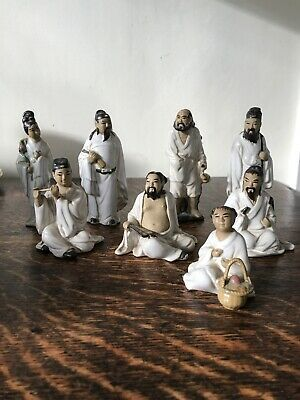 A Chinese Group Of Small Porcelain Figures Matching Ornaments Made In China