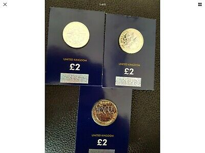 2020 2 pound coins( mayflower, agatha christie and victory)