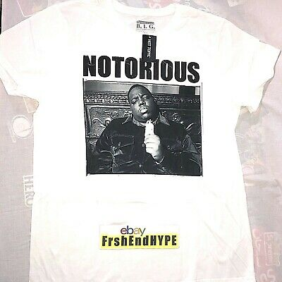 Official Biggie Smalls Crown T-Shirt Long Kiss Goodnight Just Playing Merch