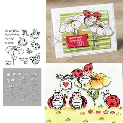 LITTLE LADYBUG Metal Cutting Dies and Stamps Stencils for DIY Scrapbooking Album