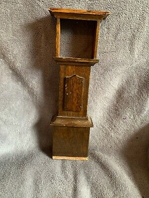 Miniature Grandfather Clock Case Wood Long Case