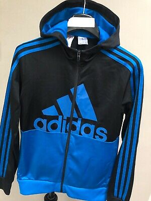 Boys/Youths Adidas Hoodie Tracksuit Top Sports Training Zip Jacket Age 13-14
