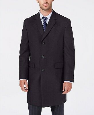 Nautica Men's Melton Regular Fit Batten Lined Overcoat Coat Grey 38R NEW $395