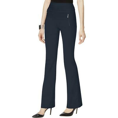 INC Womens Navy Curvy Fit Pull On Bootcut Dress Pants 6 BHFO 5755