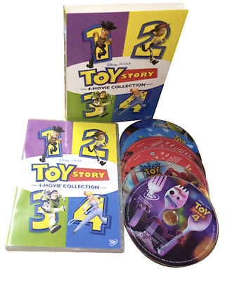 Toy Story 1-4 All 4 Movies Included Brand New DVD Box Set 1 2 3 4 FAST SHIPPING!