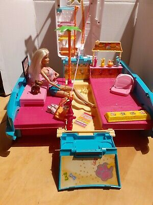 Barbie Mattel Puppy Mobile Playset With Accessories and Doll Bundle Set