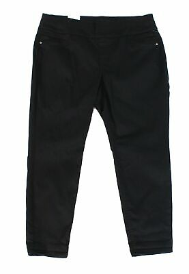 Style & Co. Women's Pants Black 24W Plus Ankle Tummy Control Stretch $56 #286