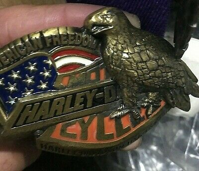 harley davidson belt buckle   B/gold