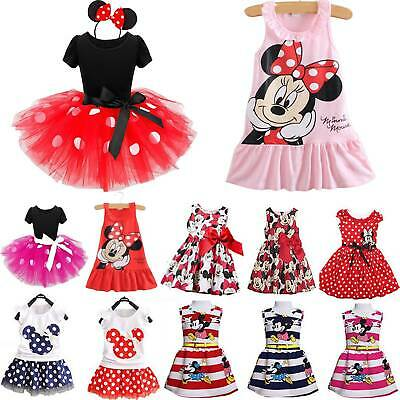 Minnie Mouse Baby Kids Girls Birthday Party Fancy Summer Princess Tutu Dresses