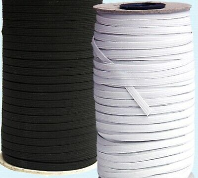 """1/4"""" Elastic - Select White, Black, or Clear Plastic and # of Yards"""