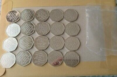 BREXIT 50p coins in from a SEALED bag of 20, UNCIRCULATED