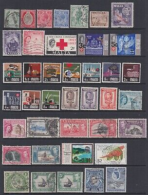 BRITISH COMMONWEALTH - VERY NICE LOT 0F 177 x MINT AND USED STAMPS