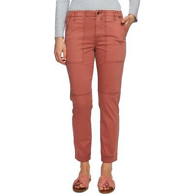 1.State Womens Brown Twill Mid Rise Straight Leg Cropped Pants 6 BHFO 5029
