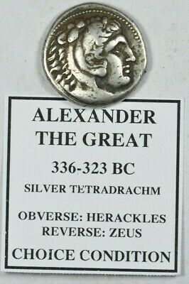 Alexander the Great III AR Tetradrachm Coin 336-323 BC
