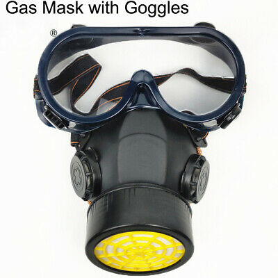 Emergency Survival Safety Respiratory Gas Mask Goggles Dual Protection Set